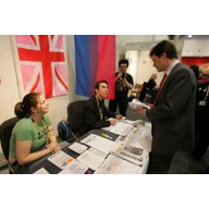 Nick Clegg drops by the DELGA stall at Liverpool Federal Conference 2008