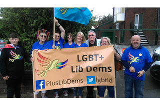 Lib Dems at Oldham Pride 2017