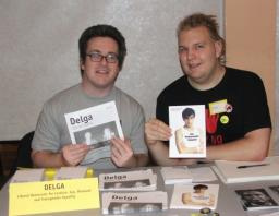 DELGA stall at North West Lib Dem conference, October 2006