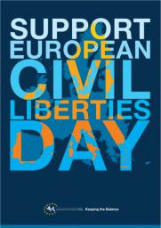 European Civil Liberties Day 2009 poster