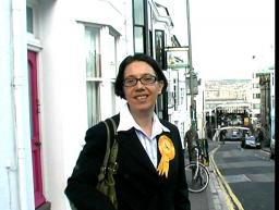 Juliet Williams canvassing in Brighton