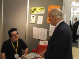 Ming Campbell visits the DELGA stall at Harrogate conference