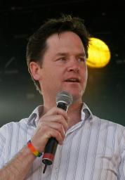 Nick Clegg speaking at London Pride in 2008