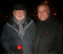 Paul Elgood and David Watkins at the Brighton 'No To Hate Crime' vigil