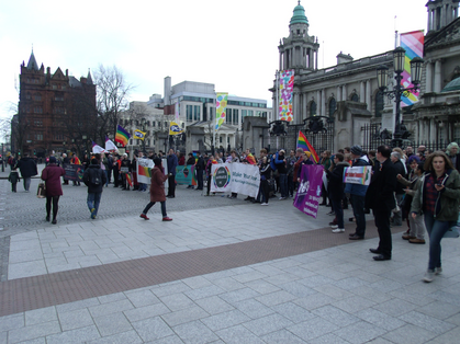 Equal Marriage Demo Belfast 28 March 2014 (Stephen Glenn)