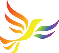 Rainbow Flag Shaded Liberal Democrat Bird of Liberty